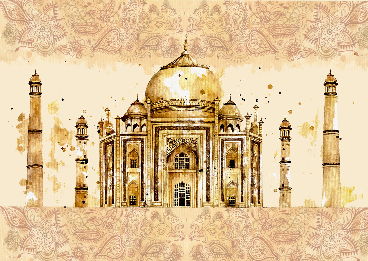 Taj Mahal  India  watercolour paintings  buildings  architectureBeautiful Illustrations of Architecture Around the World  An  . Most Beautiful Architecture In India. Home Design Ideas