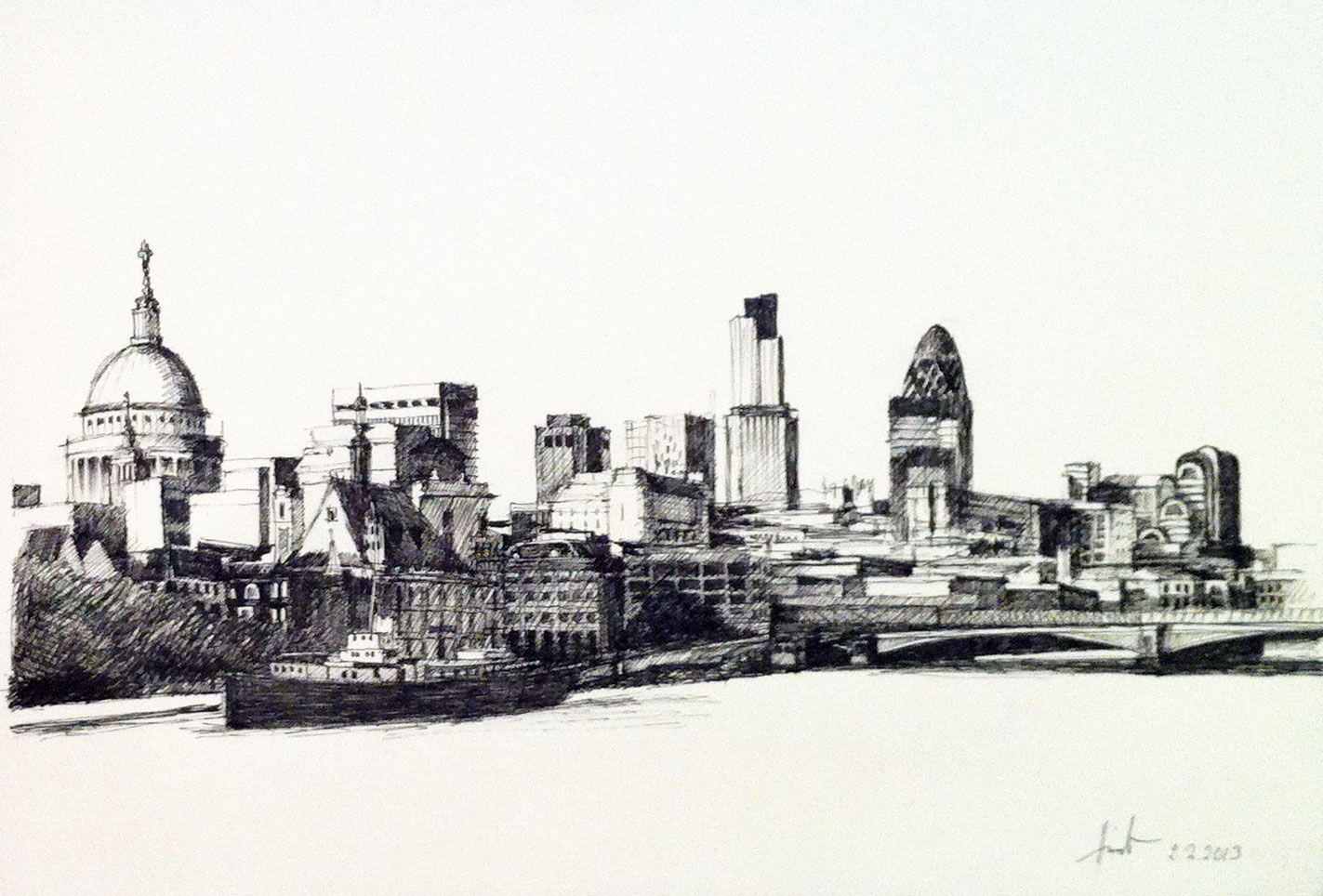 Cityscapes Art Drawing London Skyline Art Drawing