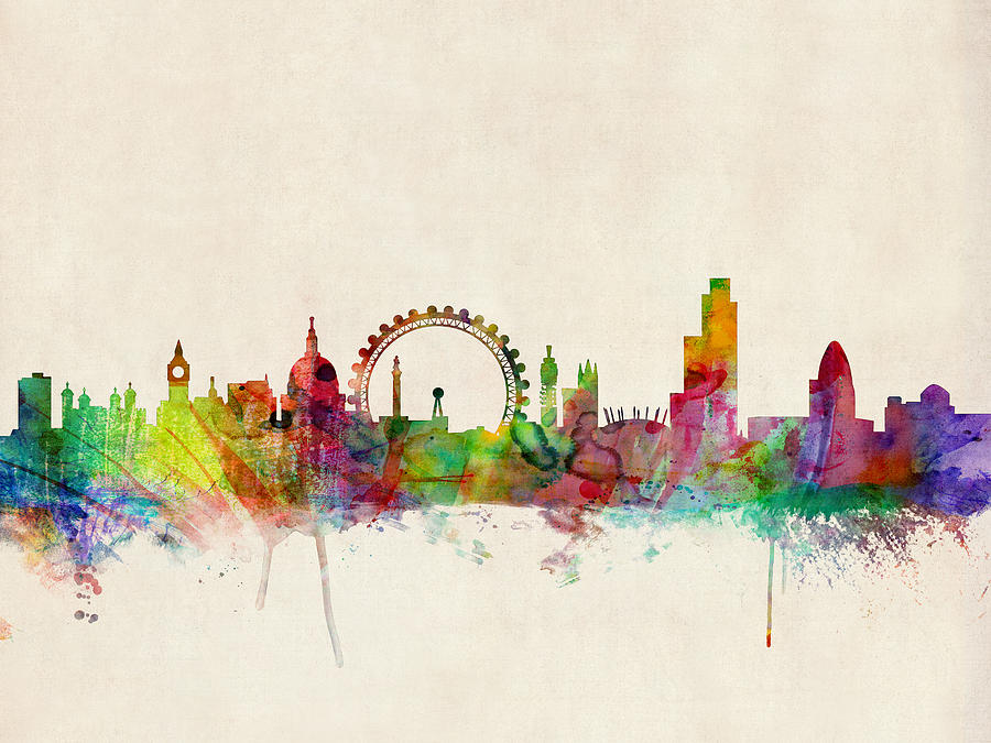 Line Drawing Tattoo Artists London : Lovely artistic representations of london s famous skyline