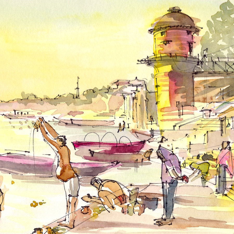 Sketches of India, art of India, Painting