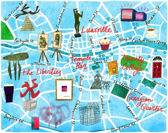 Illustrated Guides to European Cities – European Travel Maps