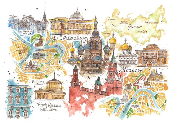 Illustrated Guides to European Cities – Travel Map Of Europe With Cities
