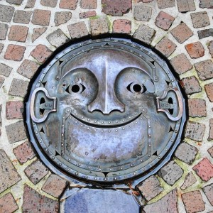 painted manhole covers in Japan, street art in asia