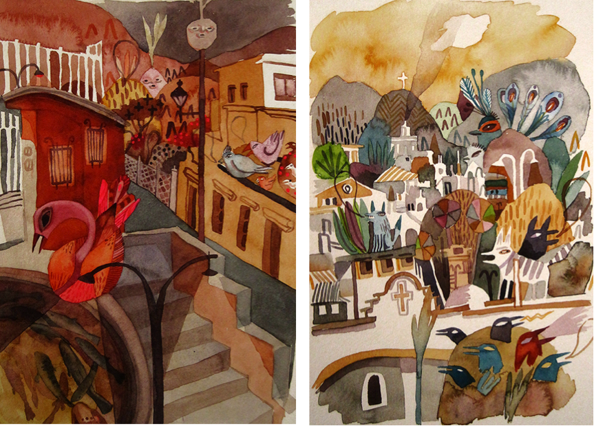 Paintings of Oaxaca, things to do in Oaxaca, art in Mexico, Meghan Hildebrand