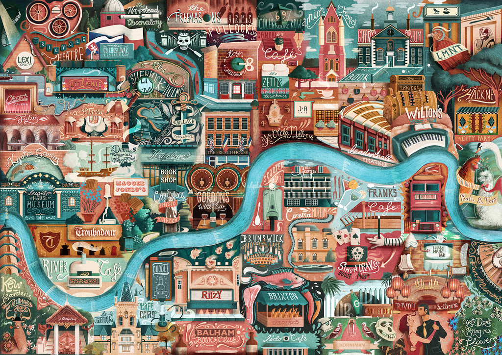 Best London Map.The Best Illustrated Maps Of London Wanderarti