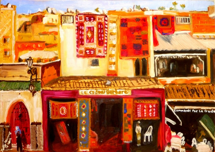 Paintings of Marrakech, things to do Morocco, travel art