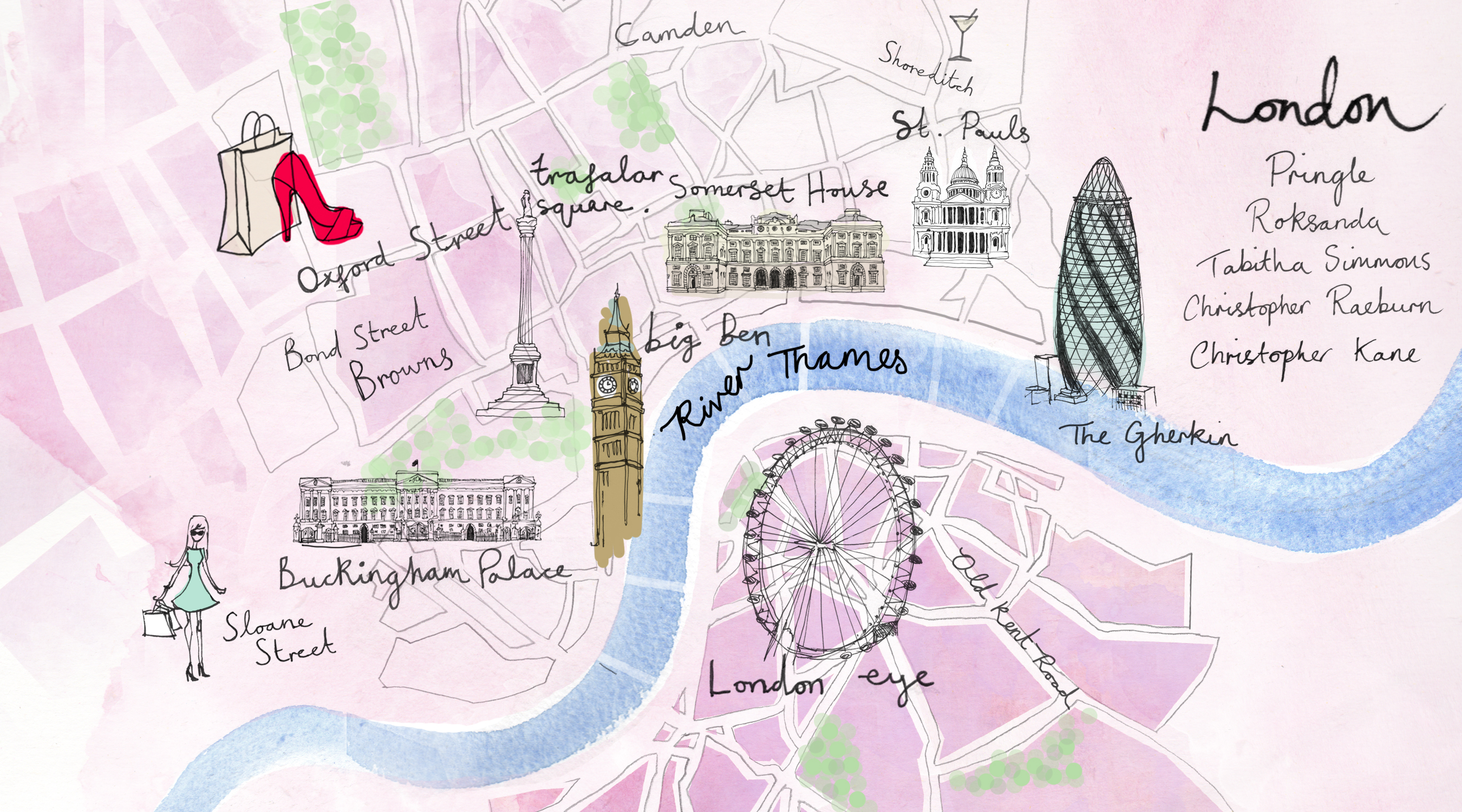 map of london travel art europe