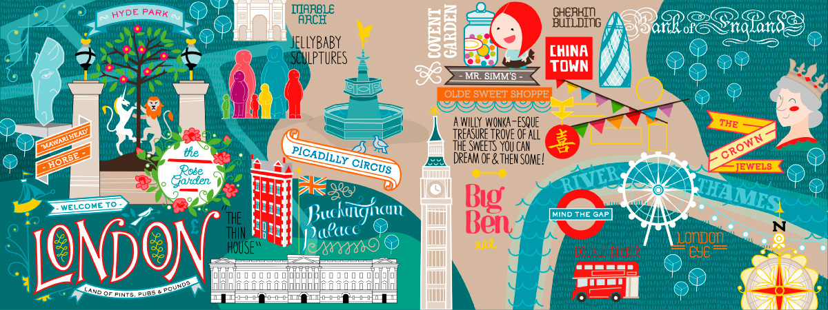 The Best Illustrated Maps of London – London Travel Maps
