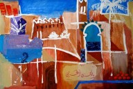paintings of Morocco, Marrakech, travel art