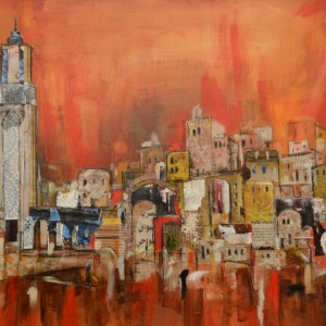 Paintings of casablanca, Morocco, travel art