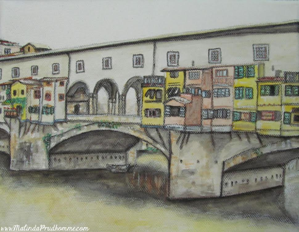 Drawings of Florence, Europe travel art