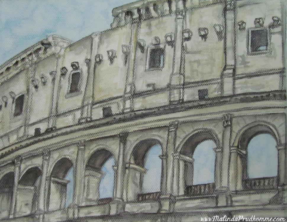 Drawings of Rome, Europe travel art