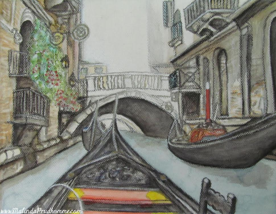 Drawings of Venice, Europe travel art