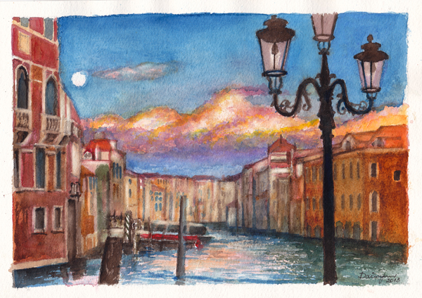 Paintings of Venice, Europe travel art