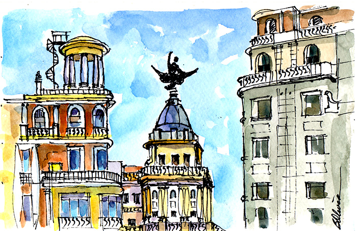 Colour and Culture: Freestyle Sketches of Spain by Betty ...