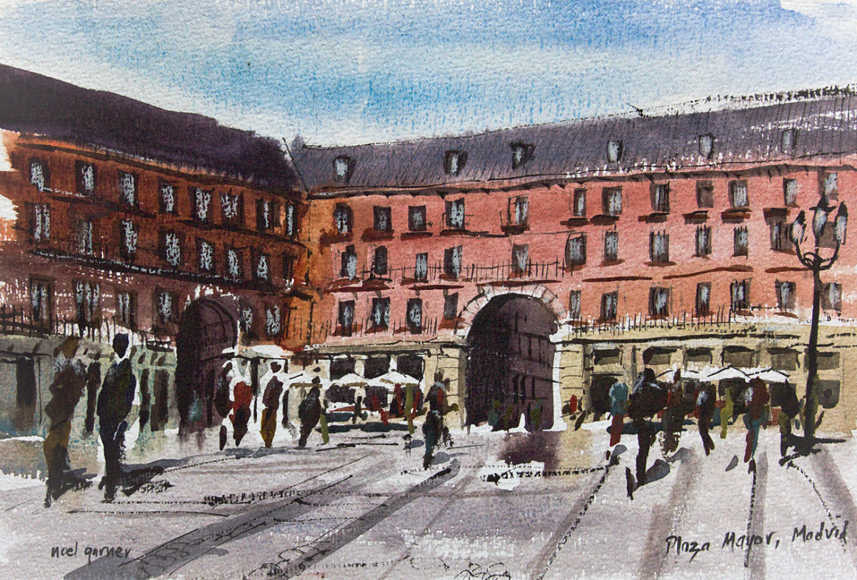 magnificent madrid sketches from spain s colourful
